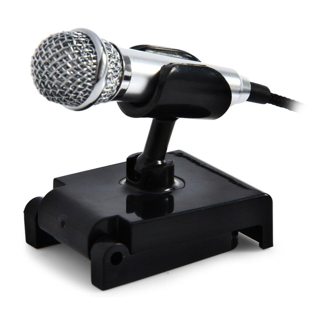 Uni-directional Wired Microphone Metal Mini Mobile Phone Tablet Condenser Microphone with Stand Studio Microphone For Computer