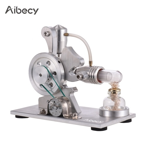 Aibecy Hot Air Stirling Engine Motor Model Electricity Power Generator Colorful LED Education Toy Gift Kits Physics Experiment