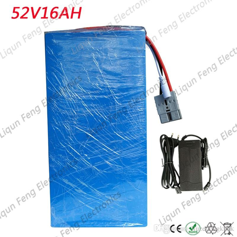 Free Tax 52V 15AH Lithium Battery 52V 15AH Electric Bicycle Battery 51.8V Scooter Battery for 48V 500W 750W 1000W Bafang Motor