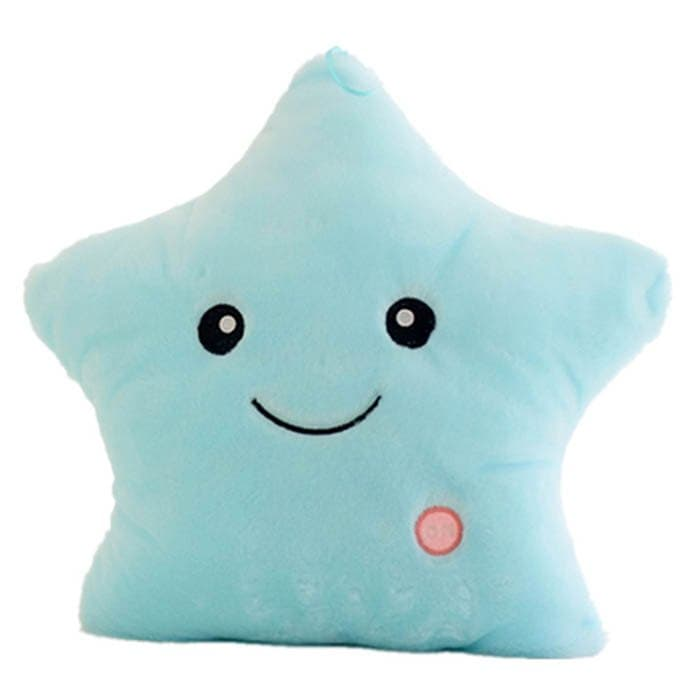 Luminous Pillow Star Cushion Colorful Glowing Plush Doll LED Light Toys Gift for Girl Kids Christmas Birthday