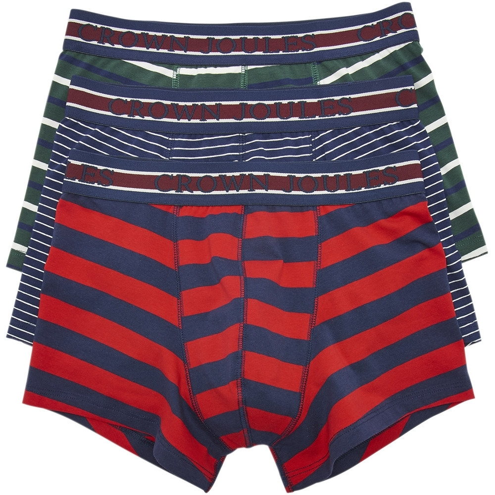 Joules Mens Crown Joules 3 Pack Soft Cotton Fashion Boxers Extra Large