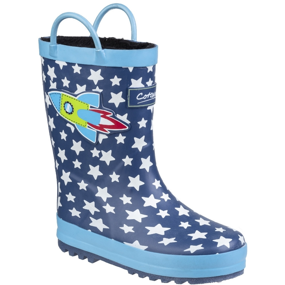 Cotswold Boys & Girls Sprinkle Mid Height Wellington Boots UK Size 4.5 (EU 21)