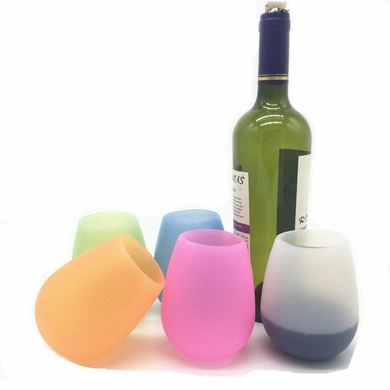 Silicone Red Wine Cup Folding Beer Glass Foldable Outdoor Travel Party Barbecue Camping Portable Mugs Unbreakable Beer Glass 300 400ml Mugs