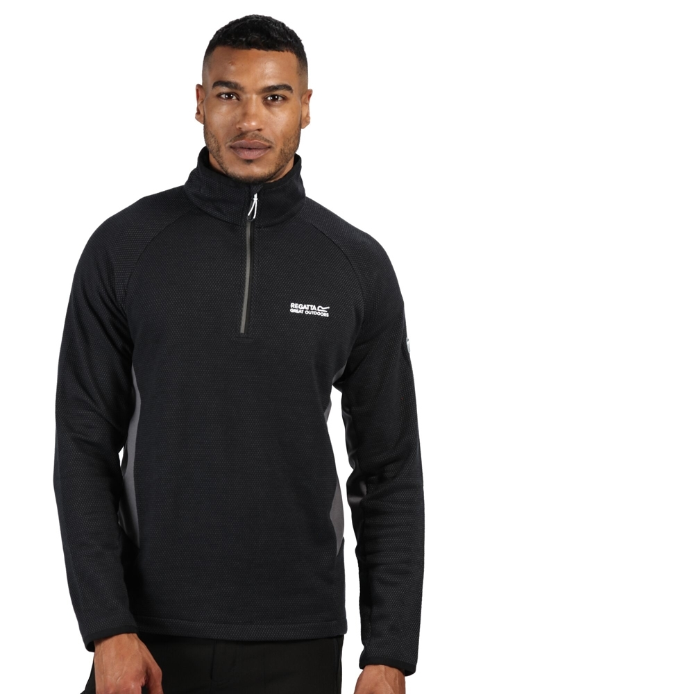 Regatta Mens Highton Half Zip Cotton Fleece Jacket 3XL - Chest 49-51' (124.5-129.5cm)