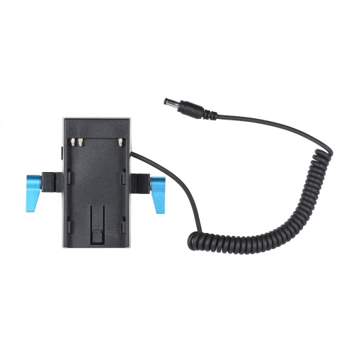Andoer Camera Battery Mount Plate Power Supply Adapter with 15mm Rod Clamp for BMD BMCC BMPCC for Sony BP-U60/U30 Battery