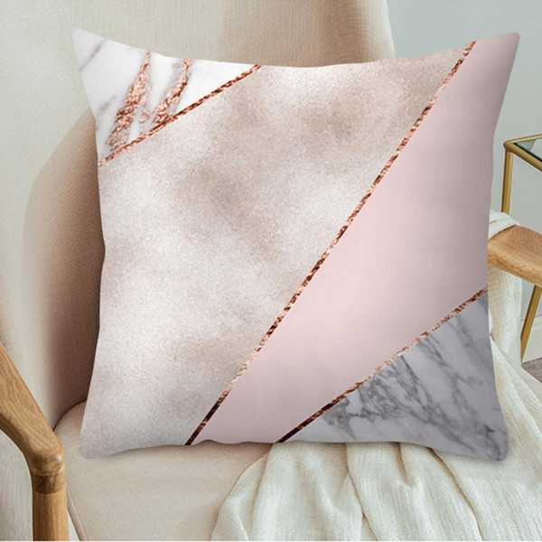 2pc 45x45cm rose gold square cushion cover polyester throw pillow cover geometric dreamlike pillow case for living room home new
