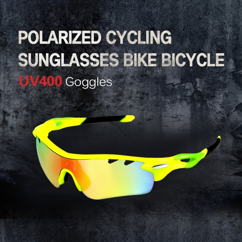 Cycling Glasses Men Women Polarized Bike UV400 Eyewear Bicycle Goggles Outdoor Sports Bicycle Sunglasses Goggles 5 Interchangeable Lenses for Riding Driving Fishing Running