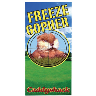 Gopher Beach Towel from Caddyshack