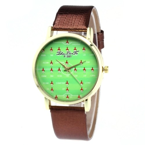 F-391 Women Watch Fashion Quartz Luxury Leather Wrist Watch British Style with Football Cartoon Pattern for FIFA World Cup