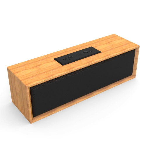 BT-2 Wooden BT Speaker Wireless Speaker Audio Strong Bass Powerful Volume Support TF AUX IN Hands-free Calls w/ Mic Black
