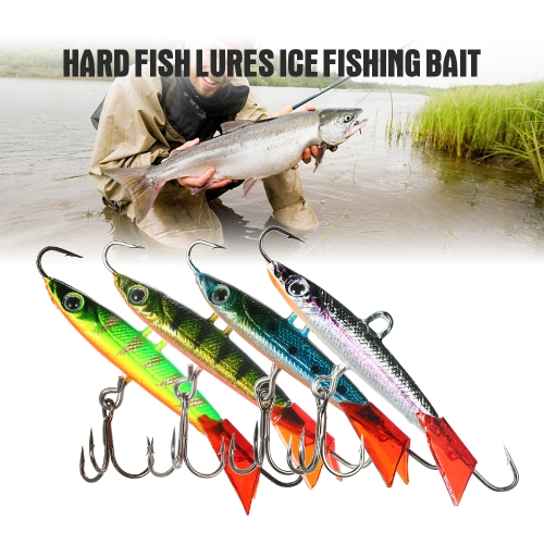 5.7cm 10g Metal Fishing Baits Hard Fish Lures Ice Fishing Bait Balance Fishing Jig Hook with Barb