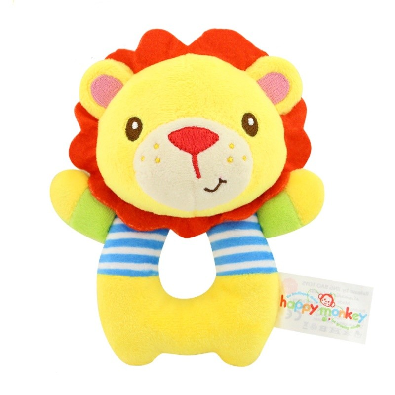 Baby Soft Rattle Toys Soft Activity Crib Stroller Toys Elephant Chick Lion Animal Shape for Toddlers Baby Girls Baby Boys Gift