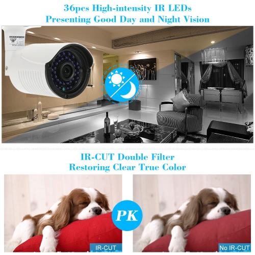 COTIER  1080P HD POE IP Camera 2.0MP 3.6mm 1/2.8