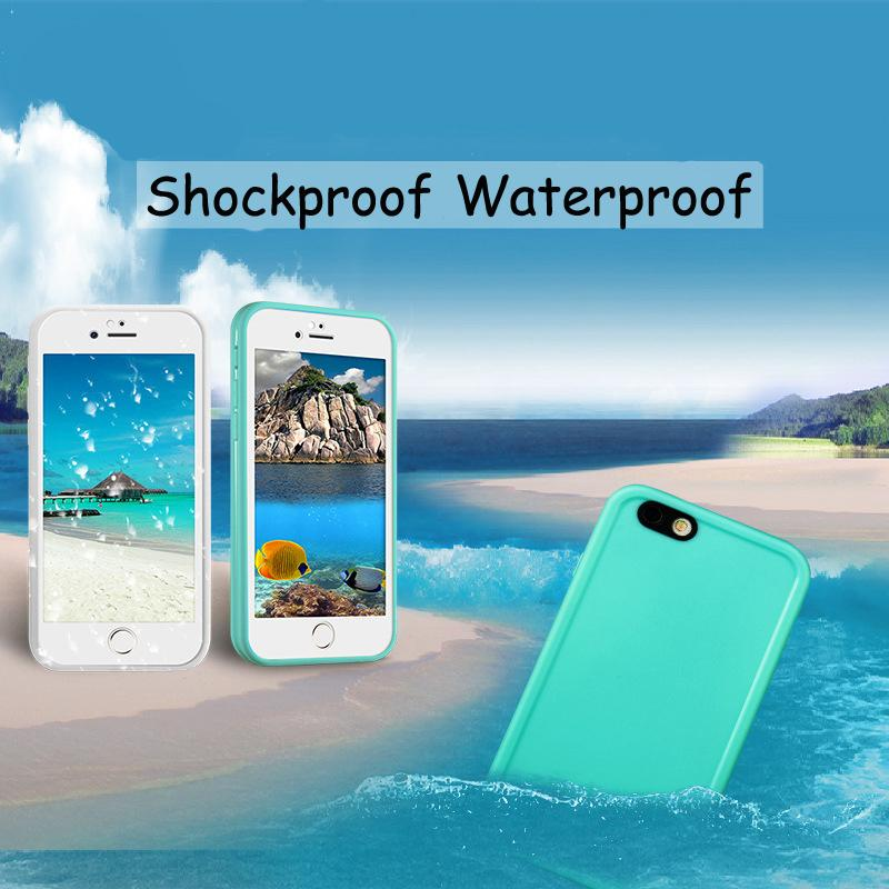 Waterproof For iPhone 6 6S 6S Plus Ultra Slim Luxury Shockproof Hybrid Rubber Soft Silicon TPU Touch Case Back Cover