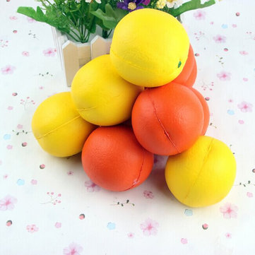 7.7CM Simulated Orange Soft Pendant Fruit Fun Toys Soft Gift Squishy Toys