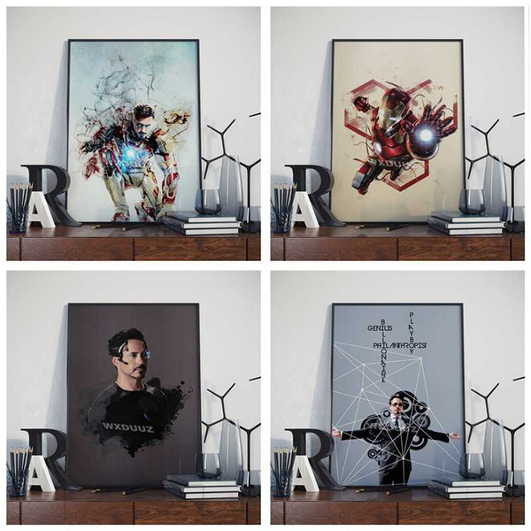 movie iron man painting iron man character print wall art picture home decor hd quality art decor posters canvas painting m534