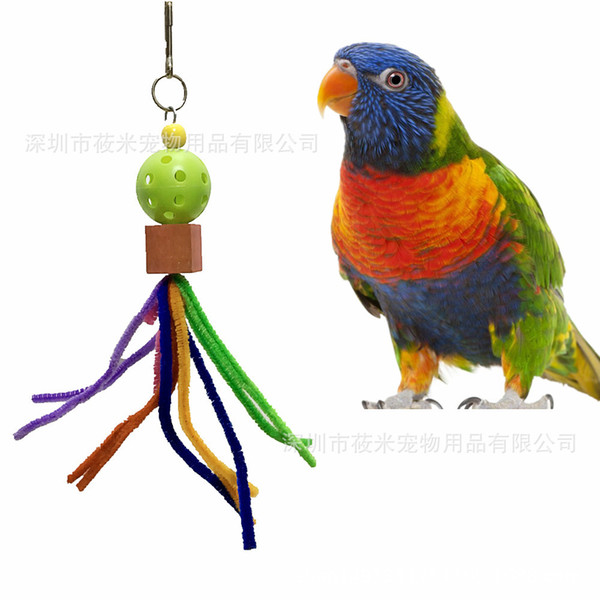 parrot toys bird toys colourful caterpillar gnaw toys cage pendant parrot articles 22g