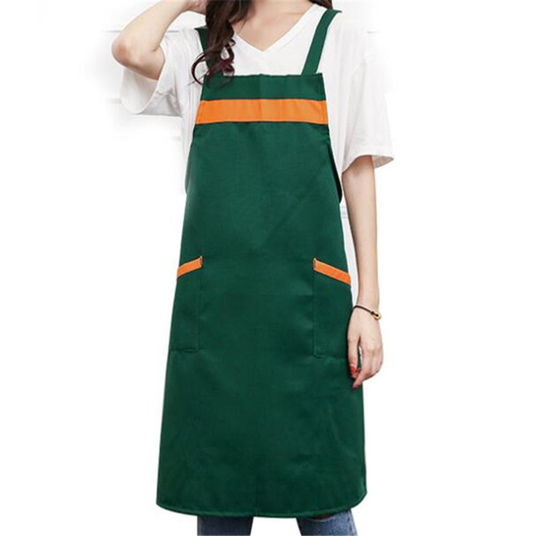 cooking waterproof polyester apron bib cooking clothing antifouling aprons coffee shop and hairdresser sleeveless work apron