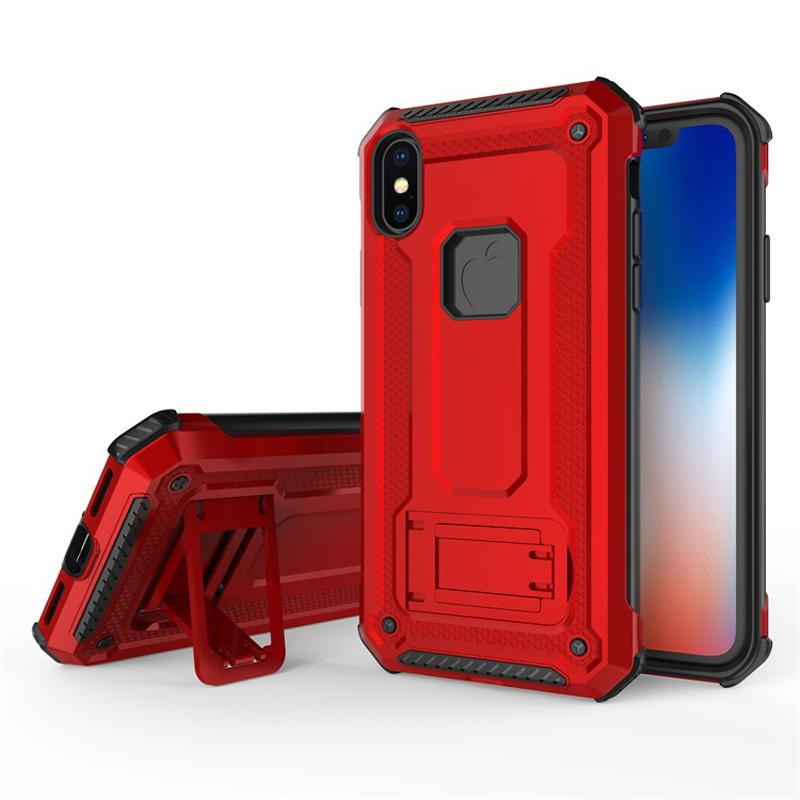 Hybrid Robot Rugged Armor PU PC Kickstand Magnetic Car Case For iPhone XS Max XR X 8 7 6 Samsung S7 Edge S8 S9 S10 Plus S10e Note 9 J4 J6