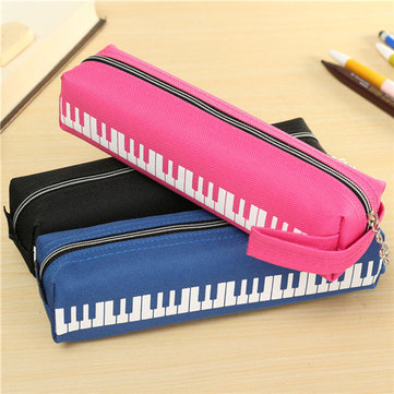 Musical Piano Keyboard Stationery Pencil Case Soft Casual Pen Storage Bag