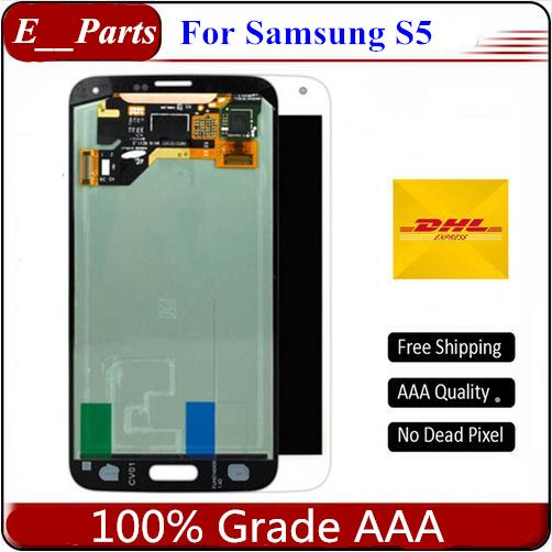 For Samsung Galaxy S5 I9600 G900 A/F/P/V/T New Test LCD Display Screen Touch Screen Digitizer Replacement Parts Free shipping