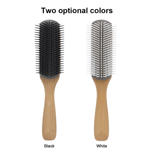 Pro Scalp Massage Hair Brush Anti-static Comb Wooden Soft Handle Comb Girl Hair Beauty Care Tool