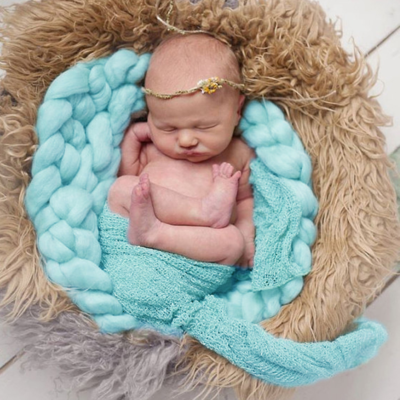 Solid Braided Blanket Photography Prop