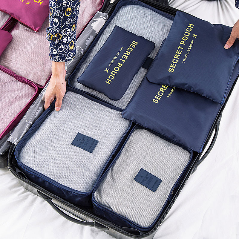 6-piece Waterproof Clothing Storages Travel Bags Set