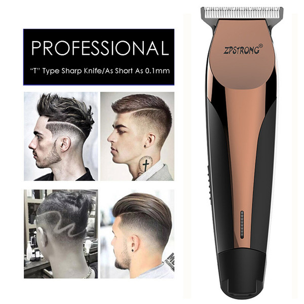 100-240v professional precision hair clipper electric hair trimmer beard shaving machine 0.1mm cutter men barber haircut tool