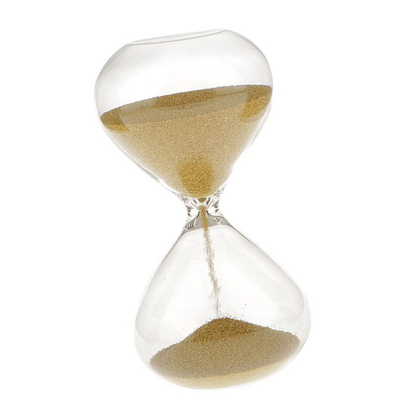 3 min hourglass clock sand decoration for home office-gold