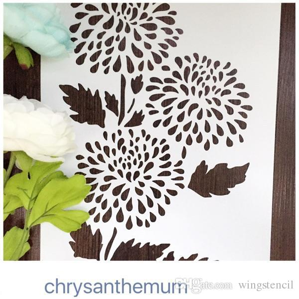 DIY stencil -wholesale laser cut stencils printing designs Masking template For Scrapbooking album drawing and more-chrysanthemum 065