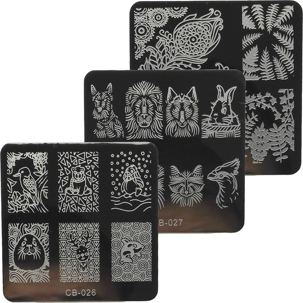 new arrival 1pcs 6cm fashion image nail stamping plates stainless steel nail art stamp template manicure tools