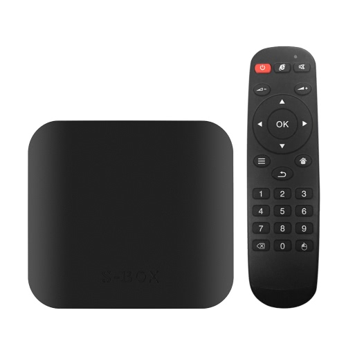 S-BOX inteligente Android 6.0 TV Box Amlogic S905X Quad Core de 64 bits KODI 16.1 XBMC H.265 VP9 UHD 4K HD 3D 2G / 32G Mini PC WiFi BT 4.0 DLNA AirPlay Miracast Media Player enchufe de la UE