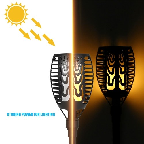 51LEDs Solar Powered Flame Flickering Torch Lawn Light