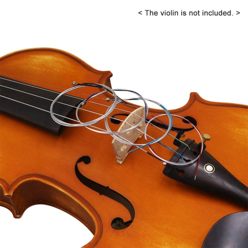 Universal Full Set (E-A-D-G) Violin Fiddle String Strings Steel Core Nickel Silver Wound with Nickel-plated Ball-End for 1/8-4/4 Violins Normal Tension