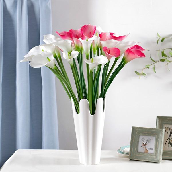 artificial pu calla flower multi colors romantic wedding gift calla lily party decoration for sale sk601