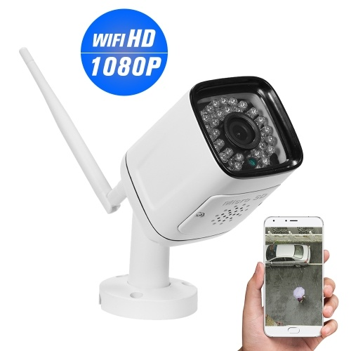 1080P HD Bullet 2.0MP 30pcs Infrared LED Lights Weatherproof Wireless IP Camera