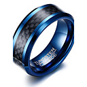 Men's Ring Assorted Color Stainless Steel Tungsten Steel Round Circle Geometric Personalized Basic Simple Style Party Anniversary Jewelry Two tone