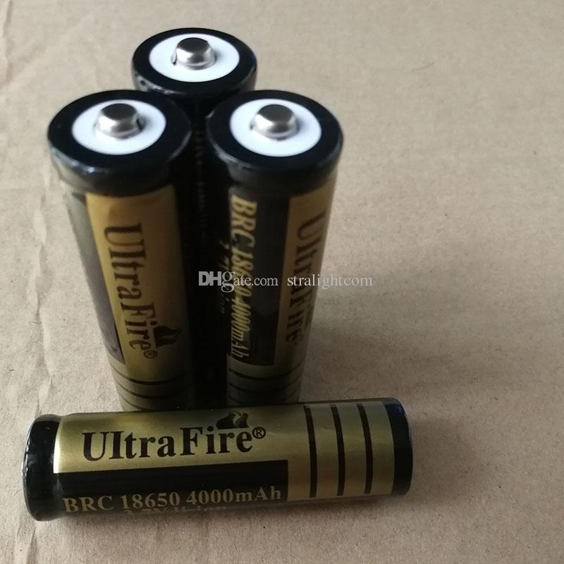 High quality 18650 UltreFire 4000mAh 3.7v pointed lithium battery can be used for electronic products such as bright flashlight. F