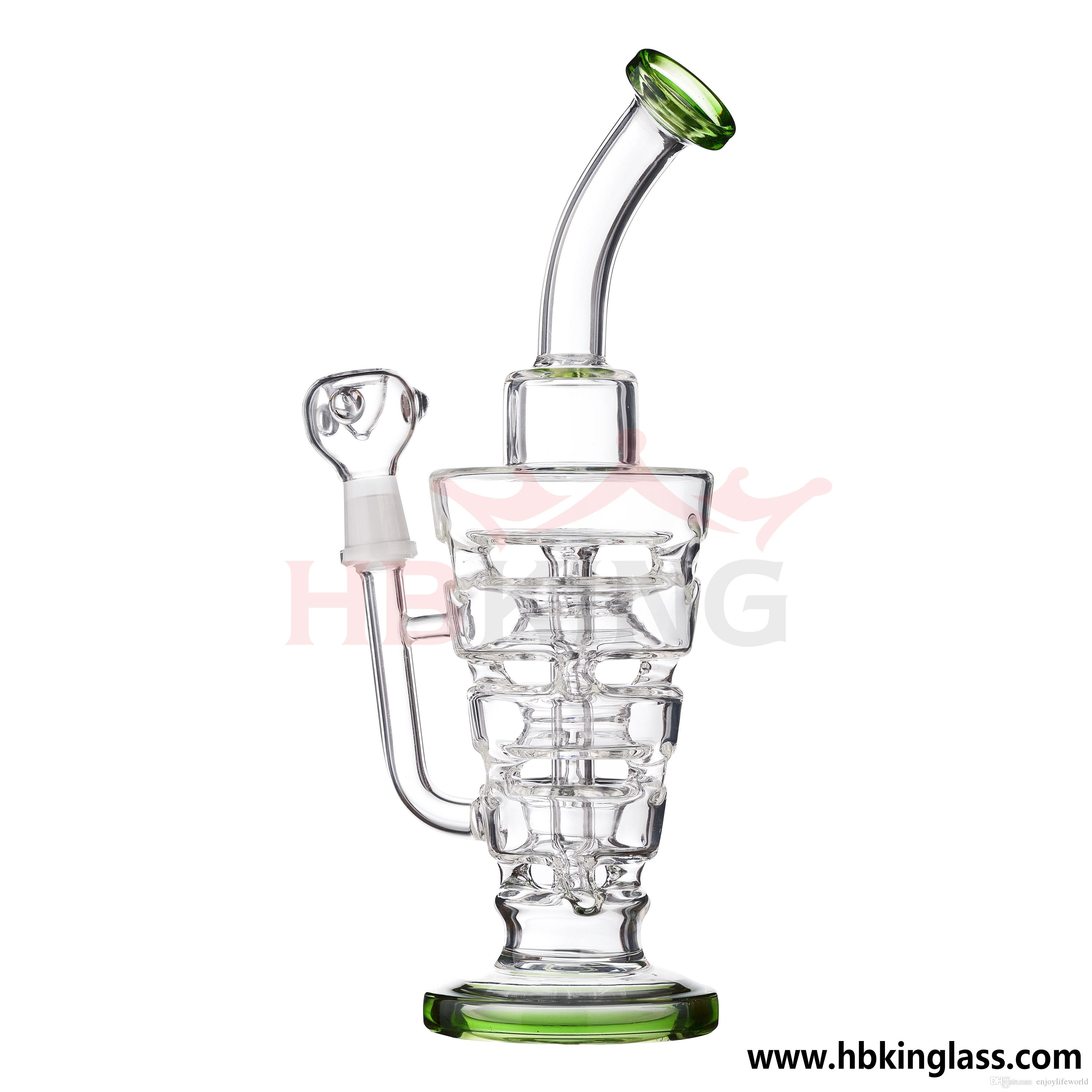 ZJ33 Smoking glass bong Hitman Glass Sundae stacks oil rigs water pipes thick and sturdy 14.5mm male joint