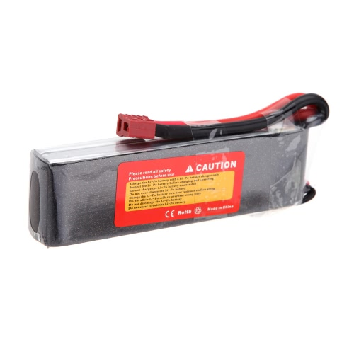 Wild Scorpion 7.4V 3000mAh 35C MAX 45C 2S T Plug Li-po Battery for RC Car Airplane Helicopter Part