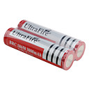 UltraFire Protected BRC 18650 3.7V 3000mAh Rechargeable Li-ion Batteries (2-Pack, Red)