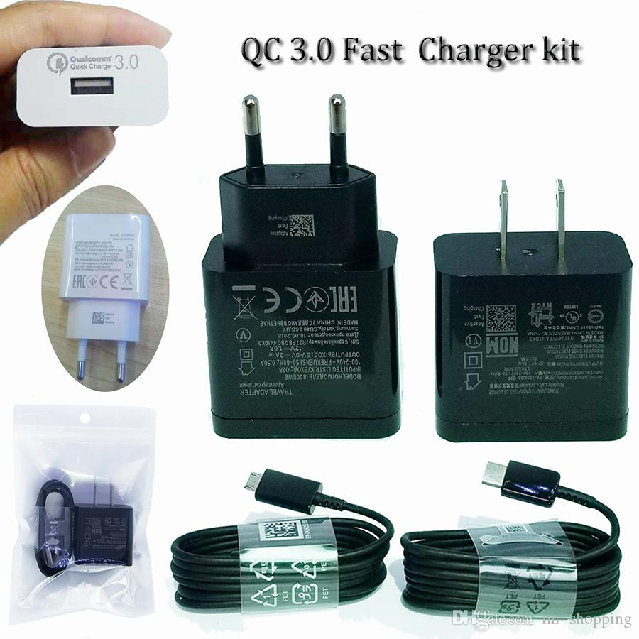QC 3.0 fast charger 9v 1.67A 5v 2a wall charger travel adapter 100v-250V power charge dock with EU US plug for samsung s9 plus
