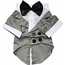 Dog Costume Tuxedo Winter Dog Clothes Black Costume Baby Small Dog Husky Labrador Bulldog Cotton Solid Colored Cosplay XS S M L XL