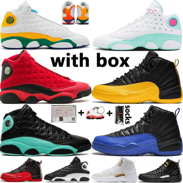 Jumpman FIBA OVO Hot Punch Game Royal 12 12s Mens Basketball shoes Black Cat 13s Chicago Taxi DMP Women Sports Sneakers Size 13