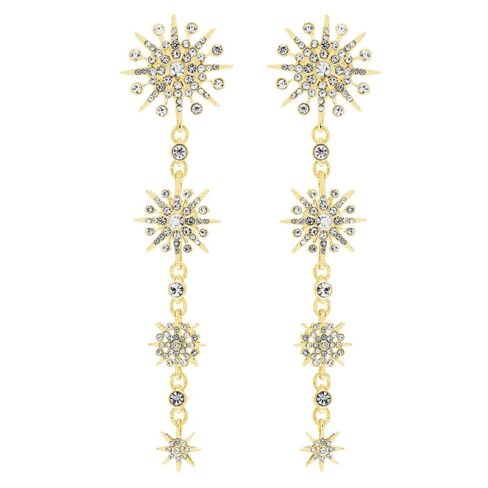 Gold Plated Celestial Graduated Drop Earring