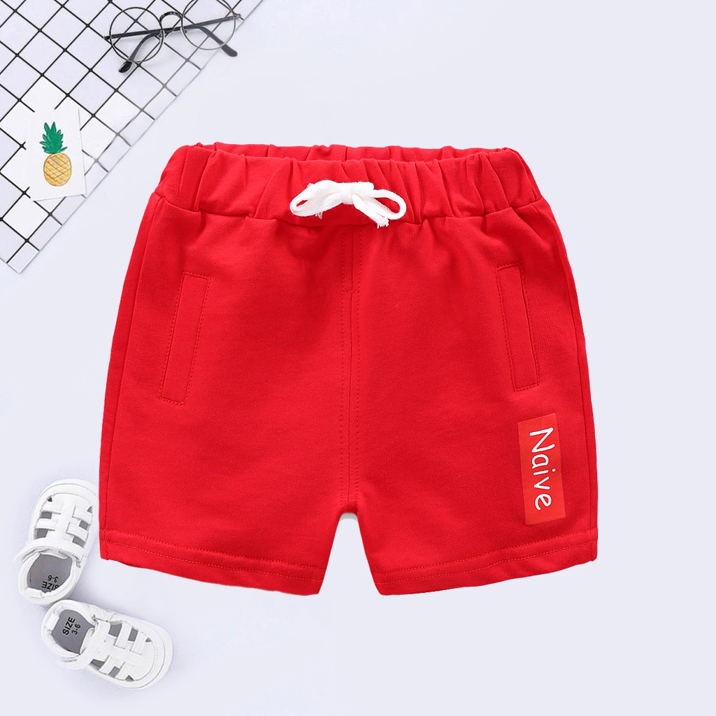Baby/ Toddler's Solid Letter Print Shorts