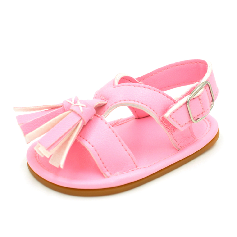 Baby / Toddler Girl Casual Solid Tassel Sandals (Various colors)