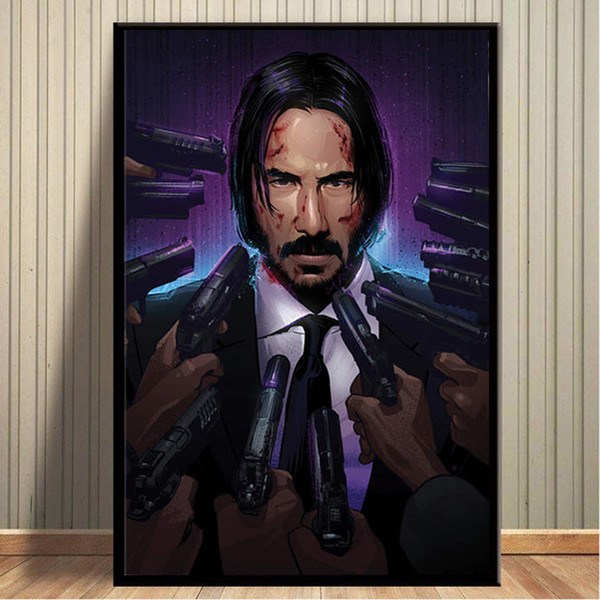 movie figure canvas painting john wick pictures wall art prints and posters for living room modern home wall art cuadros decor