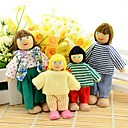 New 4Pcs Happy Family Members Jointed Doll Educational Story-telling Toy For Children